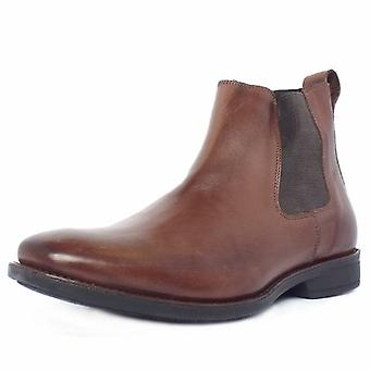 Anatomic&Co Colombo Men's Chelsea Style Pull On Boots In Coffee Brown