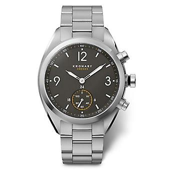 Kronaby Apex Hybrid Quartz Analog Men Watch with S3113/1 Stainless Steel Bracelet