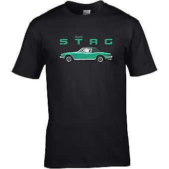 Triumph Stag Classic - Car Motor - DTG Printed T-Shirt