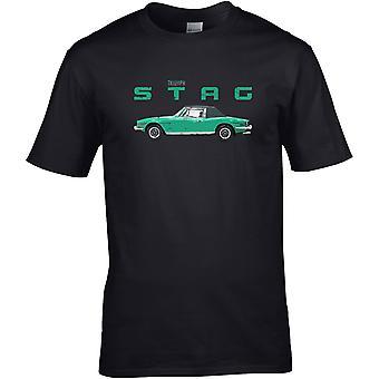 Triumph Stag Classic - Bilmotor - DTG Tryckt T-shirt