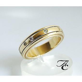 Atelier Christian kultasormus timantteja
