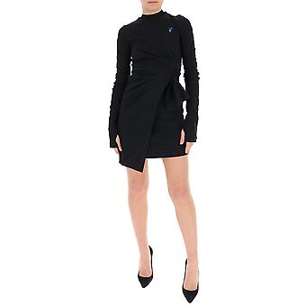 Off-white Owdb241s20fab0011045 Women's Black Viscose Dress