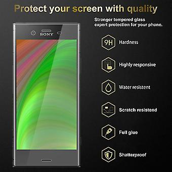 Cadorabo Tank Foil for Sony Xperia XZ1 - Protective Film in KRISTALL KLAR - Tempered Display Protective Glass in 9H Hardness with 3D Touch Compatibility