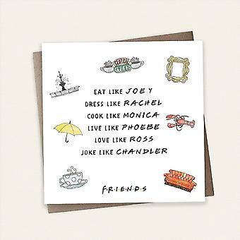 Cardology Friends Tv Show Eat Like Joey Greeting Card