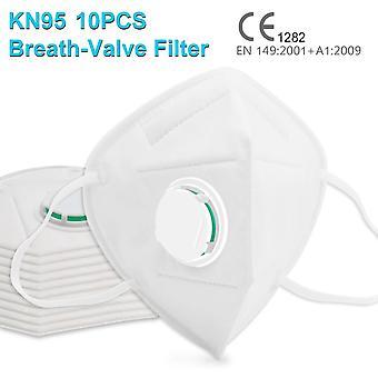 10 kpl suojamaski / suusuojus venttiilillä CE/kN95