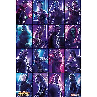Avengers Infinity War Heroes Plakat Maxi