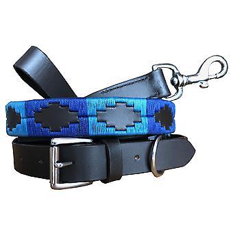 Carlos diaz genuine leather  polo dog collar and lead set cdhkplc76