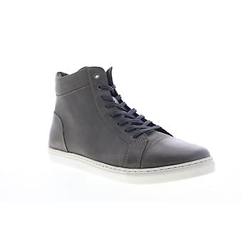 Robert Wayne Daxton  Mens Gray Leather Lace Up High Top Sneakers Shoes