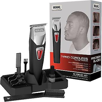 Wahl 9860-806 Rechargeable Functional T-Pro Cordless Barbers Hair Trimmer Kit