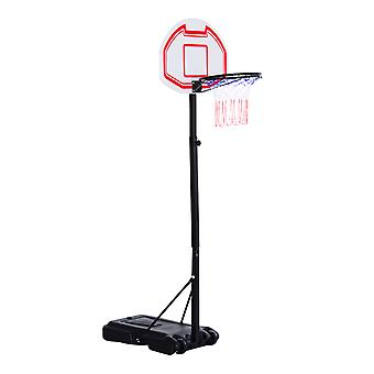 Homcom In/Outdoor Free Standing Basketball Stand Net Hoop Garden Backboard Portable Adjustable (1.65m-2.1m) w/ Wheel