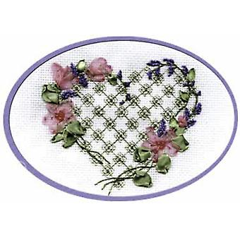 Panna Cross Stitch and Ribbon Embroidery Kit - With My Soul