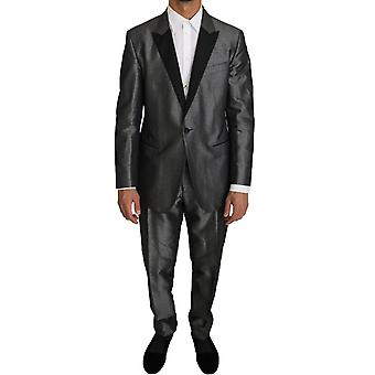 Dolce & Gabbana Gray Patterned MARTINI 2 Piece Suit -- KOS1072048