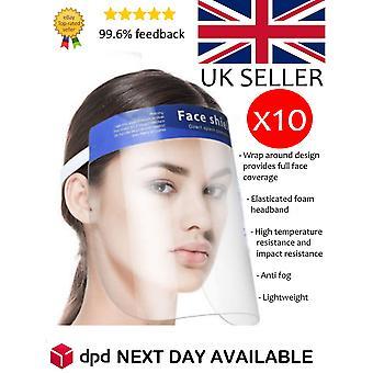 Face Shield Visor - 10 Pack