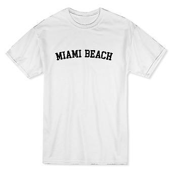 マイアミ ビーチ都市表示誇りメンズ ホワイト t シャツ