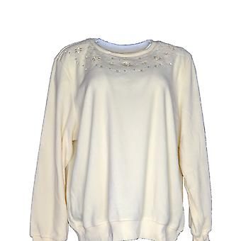 alfred dunner Women's Long Sleeves Embroidered Detail Yellow