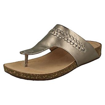 Ladies Unstructured By Clarks Toe Post Sandals Un Perri Vibe