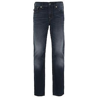 True Religion Ricky Straight Fit Midnight Blue Denim Jeans