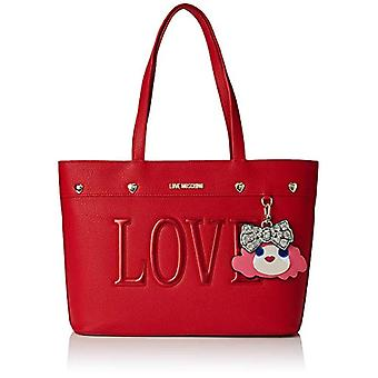 Love Moschino Bag Pebble Pu Hand Women's (Red) 12x26x42 cm (W x H x L)