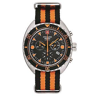 Swiss Alpine Military Men's Watch Chronograph Analog Quartz 7066.9639SAM NAVO-armband