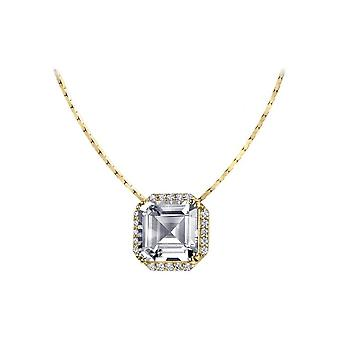 Jacques Lemans - Chain sterling silver plated with White Topaz - SE-C104F