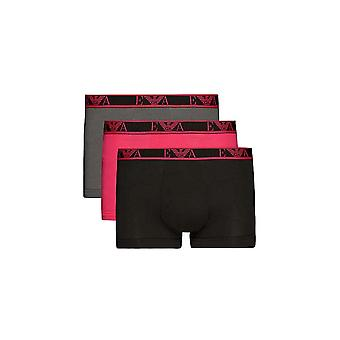 Emporio Armani Stretch Cotton 3pack Black/pink/grey Boxers