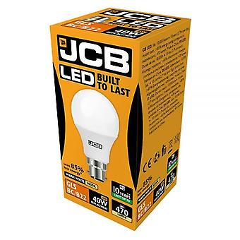 JCB LED A60 470lm Opal 6w Light Bulb B22 2700k