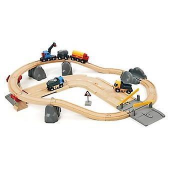 BRIO jernbane og veien lasting sett 33210 32 stykke tre Railway sett - stor verdi