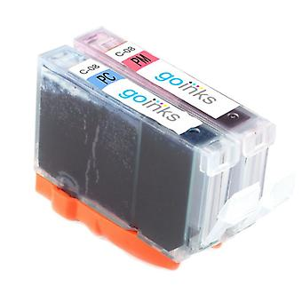 1 valokuvasarja 2 mustekasettia korvaamaan Canon CLI-8PC & CLI-8PM -yhteensopiva /muu kuin OEM Go-mustista (2 mustetta)