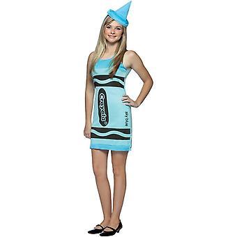 Crayola Blue tonåring kostym