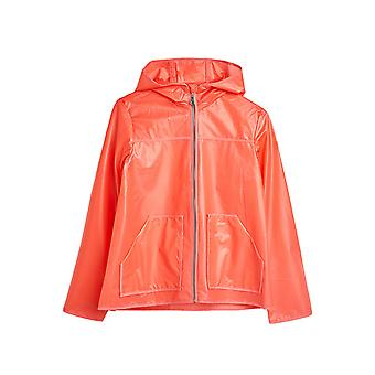 Esprit Girls' Rain Jacket With Hood Coral