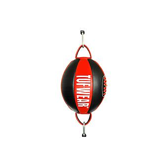 Tuf Wear Leather Top and Bottom Ball (Floor to Ceiling Ball) Black / Red