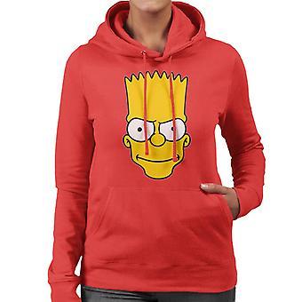 The Simpsons Bart Face Women's Hooded Sweatshirt