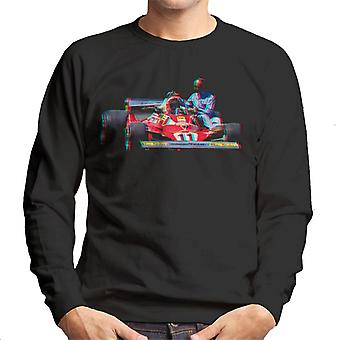 Motorsport Images Niki Lauda 312T2 Mechanic Lift Men-apos;s Sweatshirt