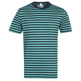 Albam Classic Stripe Short Sleeve Fern Green T-Shirt