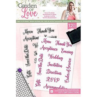 Crafter's Companion Garden of Love Save the Date Clear Stamps