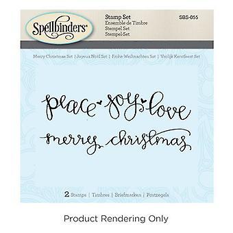 Spellbinders Merry Christmas Cling Stamp Set