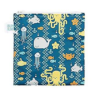 Reusable Snack Bag Large - Bumkin - Sea Friends New SBL-190