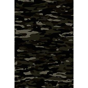 Dark camouflage pattern plakat mask