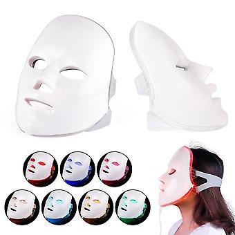 Led Gesichtsmaske, Verjüngung Photon Licht 7 Farben Maske Therapie für Falten,