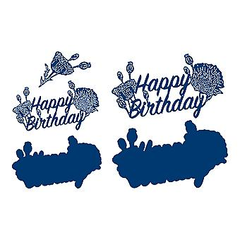 Tattered Lace Happy Birthday Sentiment Die Set