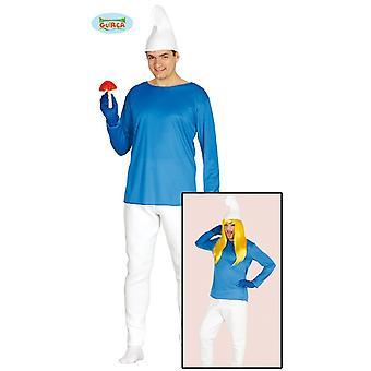 GNOME kääpiö puku Sininen kääpiö Arvoisa puku yksi koko