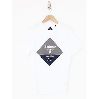 Barbour Beacon Diamond Print Tee - Wit