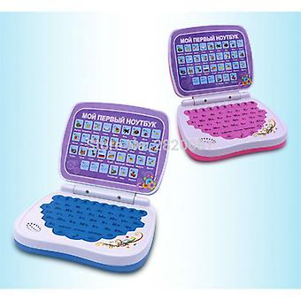 Russian Language Learning Machine Mini-computer With Alphabet Pronunciation Children Learning&educational Laptop Toys Pink&bule