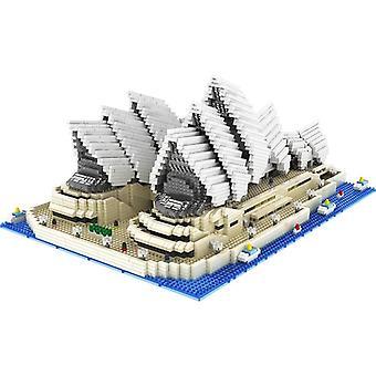 4131pcs Mini Diamond Blocks- Famous City Architecture Sydney Opera House Model Building Blocks Bricks Educational Toys For Gifts