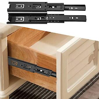 Mini Short Drawer Slides Full Extension Guide Rail Drawer Cupboard Furniture Hardware Set Accessories For Home Kitchen Steel
