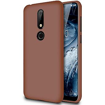 Matte Soft Shell for Nokia 6.1 Plus (Nokia X6) TPU ThinLy Solid Solid Ultra-Slim Brown