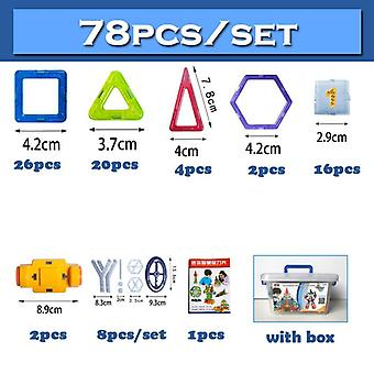 Qwz 252pcs Magnetic Blocks Mini Magnetic Designer Construction- 3d Model