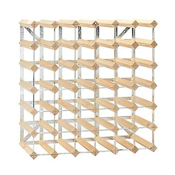 42 Bottle Wine Rack - Fully Assembled - Light Wood
