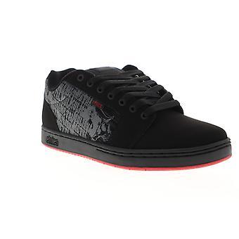 Etnies Metal Mulisha Barge XL Herren Schwarz Nubuk Leder Skate Sneakers Schuhe
