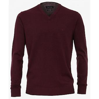CASA MODA Casa Moda Plain Pima Cotton V Neck Knitwear